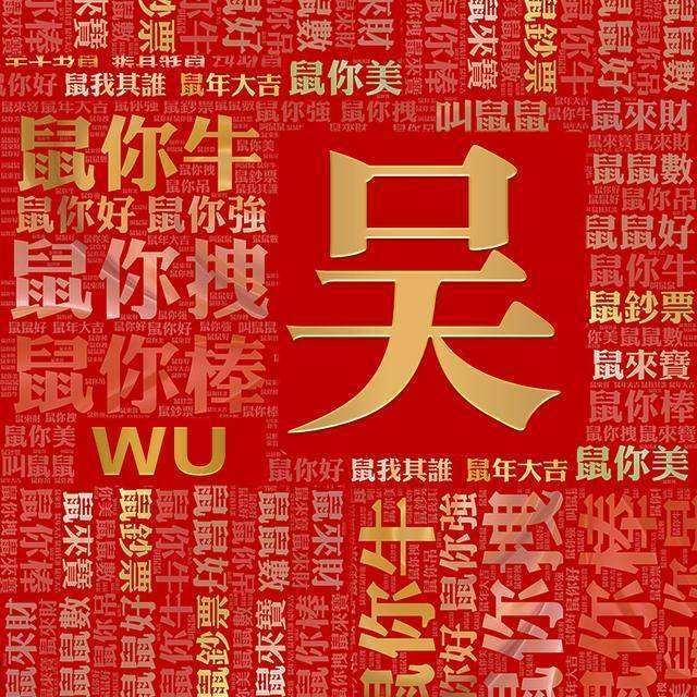 2020红红火火姓氏壁纸
