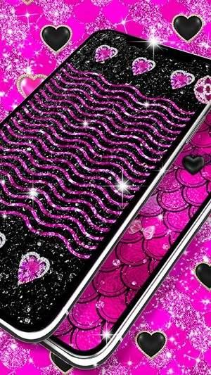 黑色粉红色闪光动态壁纸下载-黑色粉红色闪光动态壁纸免费下载